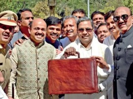 With an eye on Assembly election, due in late April or early May, Karnataka Chief Minister Siddaramaiah on Friday presented a popular state budget for fiscal 2018-19 to please all sections of society. Barring 8 per cent increase in additional excise duty on Indian-made liquor, the budget spared the people from fresh taxes despite Rs 151.30 crore deficit on capital account (revised estimates) on steep hike in borrowings.