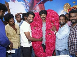 South Indian actor Sivakarthikeyan birthday celebration at Seema Raja shooting spot.