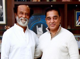 Days after he ruled out an alliance with actor Rajinikanth's political party if the latter acquires a saffron hue, actor Kamal Haasan on Sunday called on Rajinikanth at his residence here. Haasan told reporters that it was a