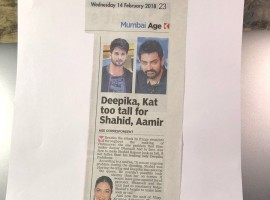 The thespian, 75, took to Twitter, where he shared an article which read that actresses Deepika Padukone and Katrina Kaif are too tall for actors Shahid Kapoor and Aamir Khan.