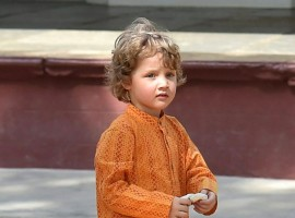 Canadian Prime Minister Justin Trudeau's son Hadrien Trudeau melting hearts in Indian attire.