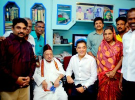 Kamal Haasan visits APJ Abdul Kalam's brother in Rameswaram ahead of party launch.