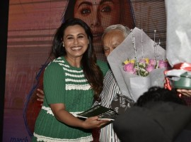Bollywood actress Rani Mukerji launches Hichki's first song with her school teachers.