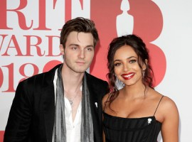 Jade Thirwall of Little Mix and Jed Elliott attend The BRIT Awards 2018 held at The O2 Arena on February 21, 2018 in London, England.