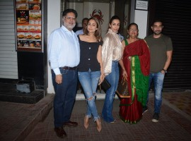 Malaika and sister Amrita Arora hosted a birthday bash for their father Anil Arora on Wednesday in Mumbai, and it was a private affair.