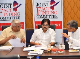 Jana Sena chief Pawan Kalyan attends JFC meeting