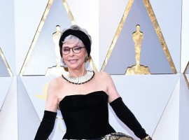 Actress Rita Moreno arrives for the 90th Annual Academy Awards on March 4, 2018, in Hollywood, California.