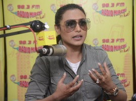 Bollywood actress Rani Mukerji promotes her upcoming movie Hichki at Radio Mirchi.