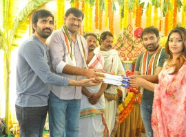 Telugu movie Amar Akbar Anthony launched today in Hyderabad.