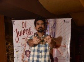 Saqib Saleem spotted at special screening of film Dil Juunglee in Mumbai on March 9, 2018.
