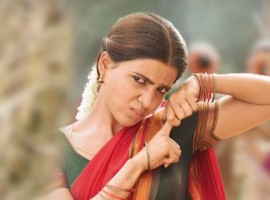Actress Samantha seen as a village girl in Rangasthalam.