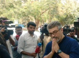 Ajith visits late actress Sridevi's house in Chennai and expressed his condolences to Boney Kapoor.