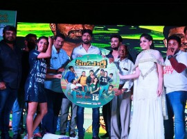 Telugu movie Kirrak Party music launch event held at the Usha Rama College of Engineering and Technology in Telaprolu, AP.