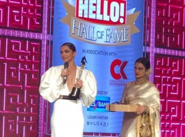 Bollywood's leading lady Deepika Padukone won the Entertainer of the year award after the humungous success of her magnum opus 'Padmaavat'.