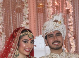 Nikhita and Sidhant Kapoor at their wedding reception at JW Marriott.