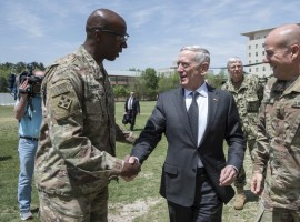 US Defence Secretary James Mattis arrived in the Afghan capital on Tuesday on a surprise visit to meet Afghan authorities and commanders of NATO and US forces in the country.