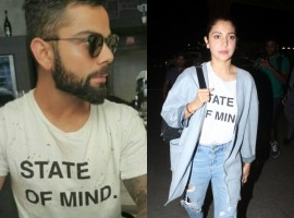 Cute! Anushka Sharma wore Virat Kohli's t-shirt to the Airport.