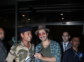 Varun Dhawan snapped at Mumbai Airport.