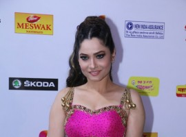 Ankita Lokhande attends the Mirchi Music Awards Marathi 2018.