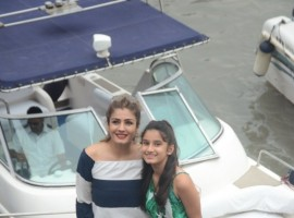 Raveena Tandon celebrated daughter Rasha s 13th birthday on a yacht near Gateway of India.