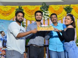 Telugu movie Kirrak Party success celebrations held at Hyderabad.