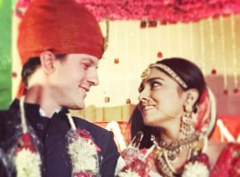 Shriya Saran tied the knot with her boyfriend Andrei Koscheev in Mumbai on 12 March.