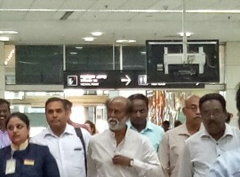 Superstar Rajinikanth returns to Chennai, from his Himalayas trip. He tells the media that it was a fruitful trip for him.