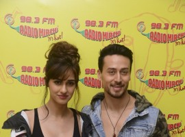 Tiger Shroff and Disha Patani promote their upcoming movie Baaghi 2 at Radio Mirchi.