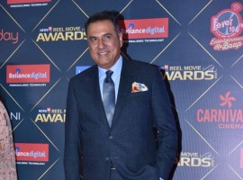 Boman Irani poses for the cameras during News18 REEL Movie Awards 2018 in Mumbai.