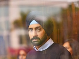 Abhishek Bachchan seen wearing a turban.