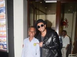 Bollywood actor Ranveer Singh spotted at Bastian Restaurant, Bandra