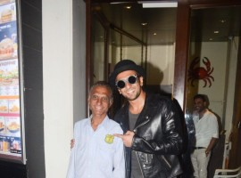 Bollywood actor Ranveer Singh spotted at Bastian Restaurant, Bandra