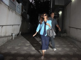 Bollywood actress Shilpa Shetty recently spotted at a restaurant in Bandra.
