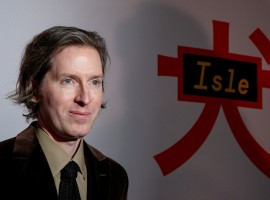 Director Wes Anderson poses for the cameras during at Isle of Dogs special screening.