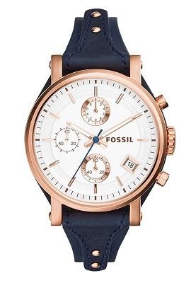 Fossil Original Boyfriend Analog Silver Dial Watch for Women