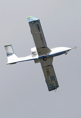 An E-Fan aircraft participates for its first public flight during the e-Aircraft Day at the Bordeaux Merignac airport