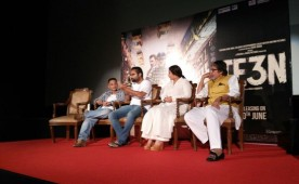 """The trailer of Ribhu Dasgupta's film, """"Te3n"""", which stars megastar Amitabh Bachchan, Vidya Balan and Nawazuddin Siddiqui, was launched here on Thursday. """"We want the audience to promote the film. It's a unique idea by inviting people through social networking sites and asking them to let us know how we can promote the film,"""" Amitabh said about the promotional strategy of the film at the trailer launch event here."""