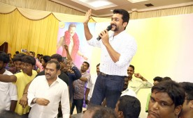 South Indian actor Suriya meets his fans on his 41st birthday.