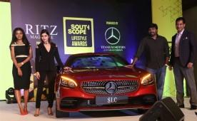 South Scope Lifestyle Awards 2016 event held at Chennai. Celebs like Vijay Sethupathi, Samantha Ruth Prabhu, Latha Rajinikanth, Aishwarya Dhanush, Soundarya Ashwin, Madhumitha, Manchu Lakshmi, Sanjana Galrani, Mariazeena Johnson, Raashi Khanna and others graced the event.