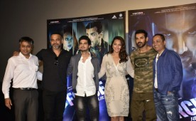 """Bollywood actor John Abraham, Sonakshi Sinha at Force 2 trailer launch. The movie presented by Viacom18 Motion Pictures in association with Sunshine Pictures Pvt.Ltd. and JA Entertainment Pvt. Ltd., """"Force 2"""" will release on November 18."""