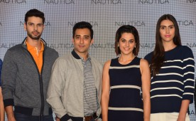 Nautica launch of new collection with actor Taapsee Pannu and Rahul Khanna.