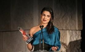 Bollywood actress Priyanka Chopra awarded 'Breakout Style Icon' at the Instyle Awards.