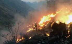 Pictures of PIA flight PK-661 crash near Havelian.