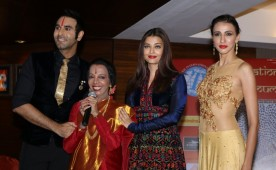 Actress Aishwarya Rai Bachchan, Dancer Lata Surendra, Model Alesia Raut and choreographer Sandip Soparrkar during 49th World Congress on Dance Research, in Mumbai on Dec 7, 2016.
