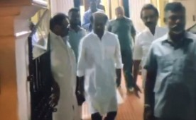 Superstar Rajinikanth met former Chief Minister of Tamil Nadu Karunanidhi at his Gopalapuram residence.