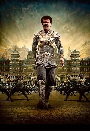 "Rajinikanth in ""Kochadaiiyaan"" (Credit: Soundarya Ashwin/Twitter)"