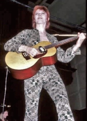 Bowie during the Ziggy Stardust Tour from 1972-73
