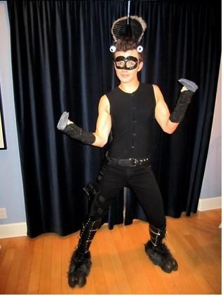 Chris Colfer dressed as a 'Llama assasin' for Halloween