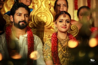 After a five-year courtship, popular Malayalam actress Bhavana got married to Kannada film producer Naveen, at a temple here on Monday.
