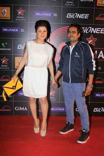 Celebrities during the Red Carpet of GIMA  Awards 2014